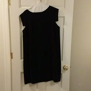 MM LaFleur black capped sleeved work dress